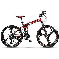 Novokart-Sports Pliables/vélo de Montagne 24/26 Pouces 3 Roue de Coupe, Rouge