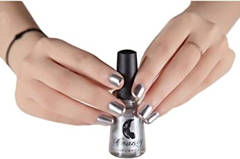 WILLTOO Mirror Nail Polish Plating Paste Metal Color Stainless Steel Size:5.8cm*5.8cm Silver
