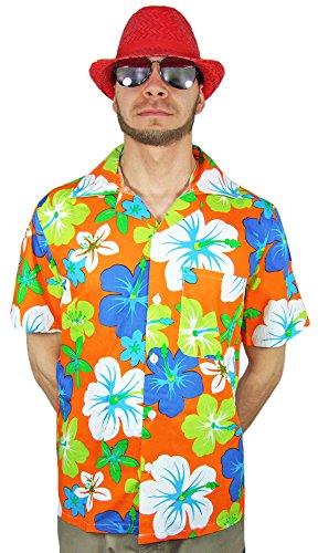 Preisvergleich Produktbild Das Kostümland Hawaii Hemd Hibiskus Orange Gr. 54