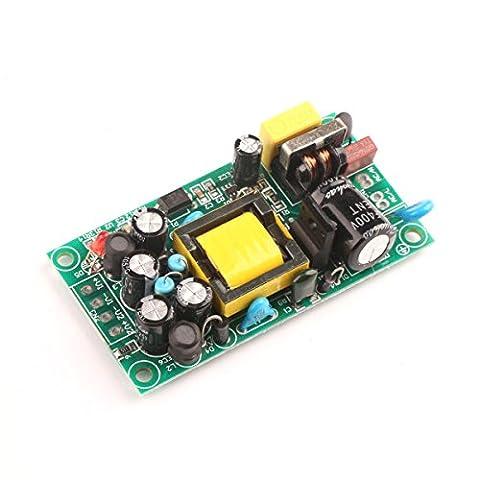 DROK® AC/DC Switching Power Supply Module AC 100-370V DC 85-265V to DC 5V/500mA 12V/1.2A Dual Output