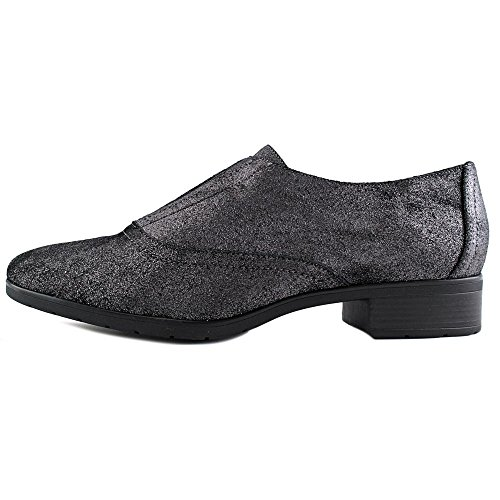 Easy Spirit Neota Rund Leder Slipper Pewter/Black
