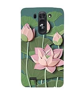 Lotus Vector Clipart 3D Hard Polycarbonate Designer Back Case Cover for LG G3 Beat :: LG G3 Vigor :: LG G3s :: LG g3s Dual