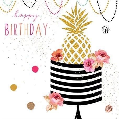 Jaz und Baz von Sara Miller-Karte zum Geburtstag, Ananas-# jb160