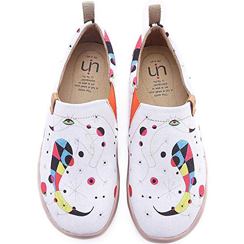 UIN Damen Fishes Funny Canvas Walking Schuhe Weiß(39)