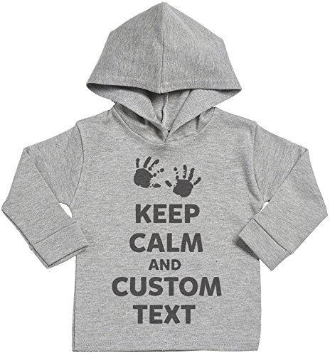 SR - Personalised Keep Calm Custom Text Baby Cotton Baby Hoodie - Personalised Baby Gift - Personalised Baby Clothing