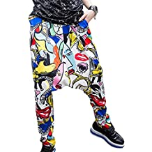 Mujeres Baggy Casual Impresión Hip-hop Pants Harem Pantalones