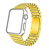 Apple Watch Band, Bandmax 18K Vergoldet Edelstahl Ersatzarmband mit Schmetterling Faltschließe...