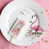 Kelly' Harvest House Plato de cena de cerámica de Flamingo Platos de Ensalada de Frutas-Plato de Postres, Ensalada Simplemente Chirrido / Plato de Almuerzo, Plato de Postres Accesorio para Fiestas, Ronda