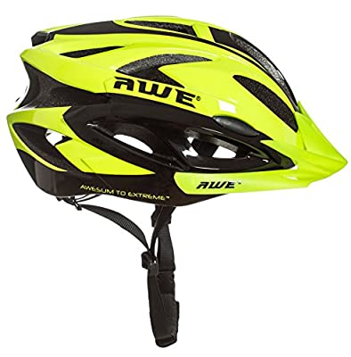 AWE® AWEAir™ FREE 5 YEAR CRASH REPLACEMENT* In Mould Adult Mens Cycling Helmet 58-61cm Neon by AWE®