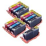 PerfectPrint Compatible Cartouche d'Encre de remplacement pour HP B109a B109N B109d B109F B110a B110C B110e B111B210a B210C B211C410C410b C309a C309N C309g C310a 364X L (Noir/cyan/magenta/jaune, 13-pack)