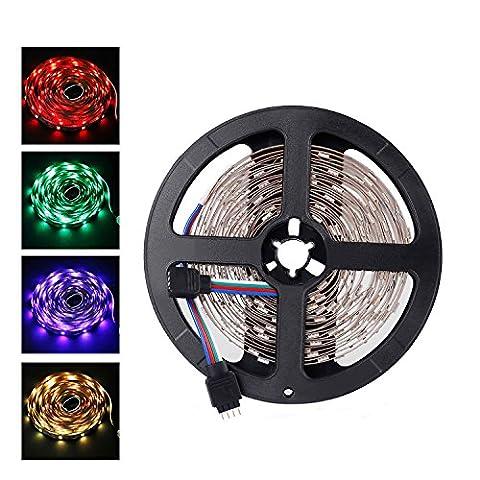 ALED LIGHT® 5 Mètre(16.4 ft) 5050 SMD 300 LEDs Ruban à LED Bande Flexible Non-Étanche Strip LED Éclairage Décoration pour les Fêtes et Noël (RGB)