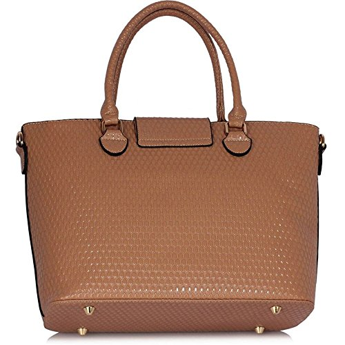 Leahward Damen Kunstleder Bow Charm Nice Great Handtaschen Tote Schultertaschen 374c 348 485 nackt Schultertasche