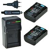 ChiliPower Sony NP-FH50, NP-FH40, NP-FH30 Kit: 2x Batterie (800mAh) + Chargeur pour Sony Alpha DSLR-A290, DSLR-A330, DSLR-A390, Cyber-shot DSC-HX1, DSC-HX100V, DSC-HX200V, DCR-DVD108, DCR-DVD308, DCR-DVD808, DCR-DVD810, DCR-DVD905, DCR-SR47, HDR-CX100, HDR-TG1, HDR-TG3, HDR-TG5V, HDR-UX7E, HDR-UX9E