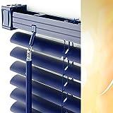 Kunststoff-Jalousie Breite 80 cm x 160 cm Höhe in Lamellenfarbe 09 / orientblau / PVC-Jalousien PVC-Jalousette Jalousetten aus Plastik 80x160 dunkelblau Blau