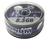 50 (2x 25Stk) Platinum Rohlinge DVD+R DL 8,5GB 8x *Spindel*