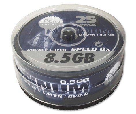 50 (2x 25Stk) Platinum Rohlinge DVD+R DL 8,5GB 8x *Spindel* 8 Gb Dvd