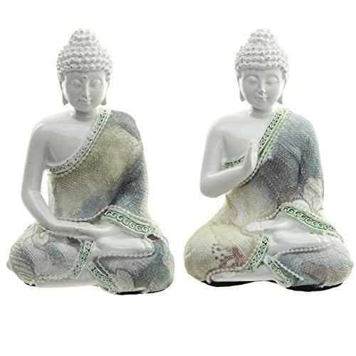 Decorativo floral–Figura decorativa de Buda meditación (1suministrado)