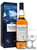Talisker 10 Jahre Single Malt Whisky 0,7 Liter + 2 Classic Malt Gläser