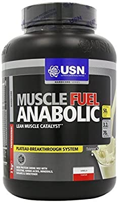 USN Muscle Fuel Anabolic Best Muscle Gain Protein Powder (Vanilla, 2000g) by USN