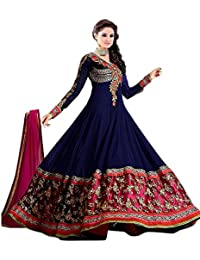 Anghan Brothers Clothy Women's For Gown Latest Party Wear Designer Georgette Embroidery Semi Stitched Free Size...