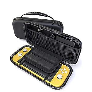 innoGadgets Tasche kompatibel mit Nintendo Switch Lite | Aufbewahrungstasche mit 8 Spielkartenhalter | Schutzhülle, Transporttasche, Hülle | Hartschale, Schwarz