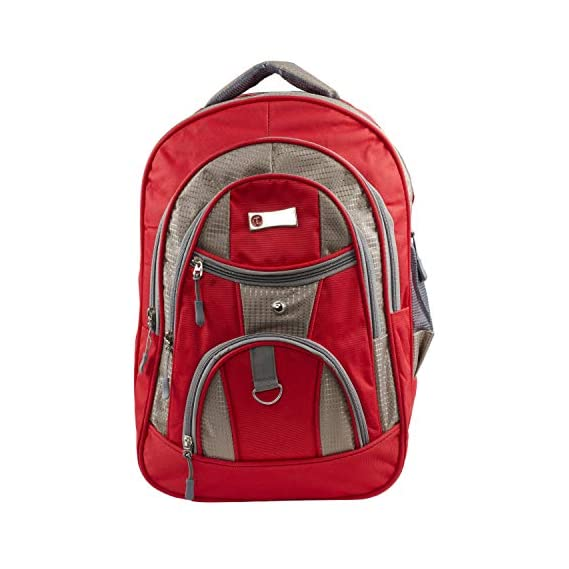 Casual Backpack Bags for Men Women School College bagpacks Laptop Bags  red 19inches