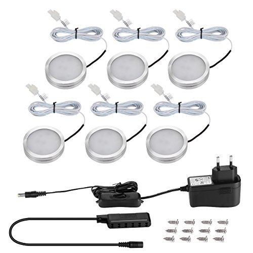 LE Lot de 6 Spots LED 2W Super Lumineux, Applique LED Hublot...