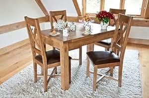 Hartford Table à manger à rallonge en chêne rustique 180cm
