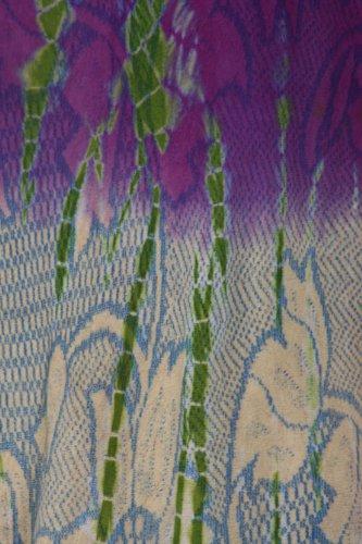 Sakkas Blouse Tunique Cotton Sans Manches Ombre Floral Tie and Dye Ourlet Évasée Crème Violet