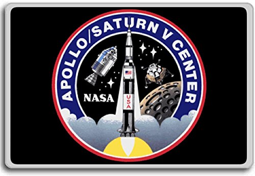 Kennedy Space Center Apollo-Saturn V Center - Space Travel Program Patch fridge magnet - Kühlschrankmagnet 52 Mm Center