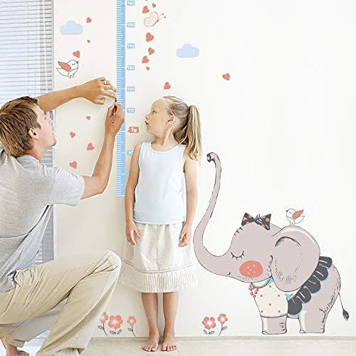 Wandtattoos Kinderzimmer Dekorative Wandtattoos Selbstklebend Kindergarten Baby Messhöhe Füße Abnehmbar Grauer Elefant Höhe Höhe Aufkleber 115 * 135Cm, A - Dekorationen Baby Grauer Elefant
