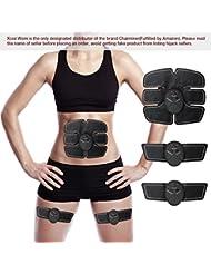 Elektrostimulation,Charminer Elektrischer Muskelstimulation EMS-Training Muskelaufbau Massage-gerät Home Fitness Machine leicht zu tragen für Mann Damen Geschenk