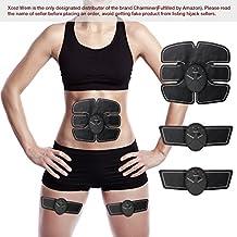 Electroestimulador Muscular Abdominales,Charminer Masajeador Eléctrico Cinturón,Ejercitador del Cuerpo de los Músculos de Brazos y piernas para hombre o mujer