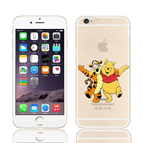 Nouveau Disney Winnie l'Ourson & amis Transparent Coque souple en TPU pour Apple iPhone 5/5S -5se .5 C 6/6S & 6 +/6 + S, plastique, WINNIE & TIGGER, APPLE IPHONE 6.s