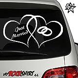Hochzeitsaufkleber Typ 44 Just Married Autoaufkleber Deko Wandtattoo