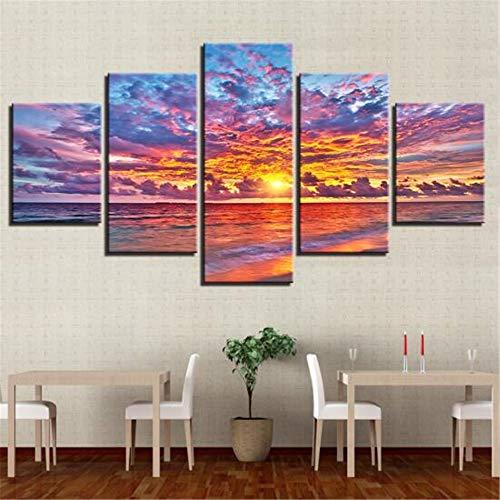 JUNDY Einfache fünf seelandschaft Landschaft Dekoration malerei hochwertigen frischen Hause kinderzimmer Inkjet ich 20x35cmx2 20x45cmx2 20x55cmx1