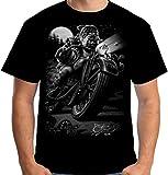 Picture Of Velocitee Mens T-Shirt Cats Suck Chopper Biker Bulldog A10533