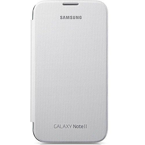 Samsung EFC-1J9FWEG Étui à rabat pour Samsung Galaxy Note 2 Blanc