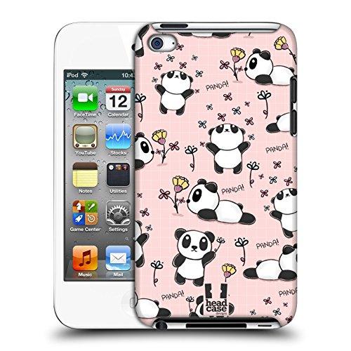 Head case designs panda doodle graziosi cover dura per parte posteriore compatibile con apple ipod touch 4g 4th gen