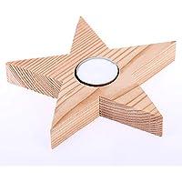 Holzdeko Stern, Ausführung Teelicht, Weihnachtsdeko, Holzstern Weihnachten