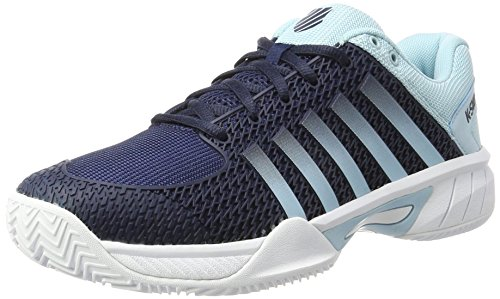 K-Swiss Performance Express Light HB, Scarpe da Tennis Uomo, (Black Iris/Blue Glow/White), 43 EU