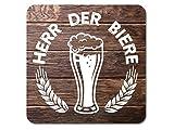 Interluxe LED leuchtender Bieruntersetzer - Herr der Biere - beleuchteter Bierdeckel als Geschenk für Bierverkostung, Brauerei, Bierbrauer