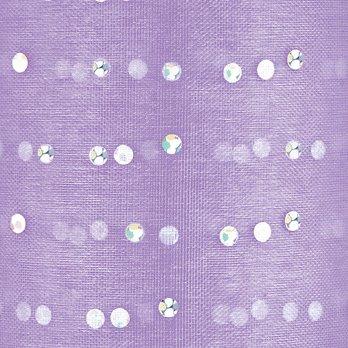Club Verde Organza Corte Cinta Plata Lunares, Lila, 5cm x 25m