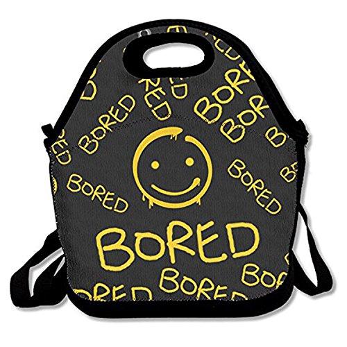 ZMvise Emoji Smiley Face les sacs réutilisables pique - nique déjeuner tote isolés boîtes hommes femmes enfants toddler infirmières sac de voyage