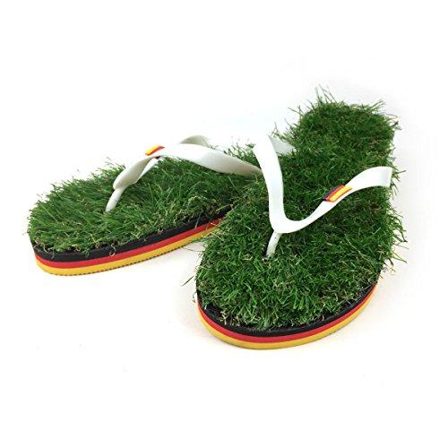 Fußball WM Flip-Flop mit Gras Größe 43-45