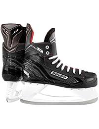 Bauer NS Ice Hockey - Patines, negro /rojo, UK 5.5 / EU 38.5 / US 6
