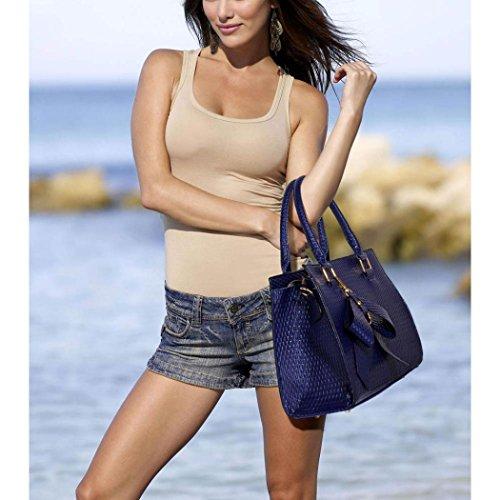 LeahWard® Frauen Bogen Tote Tasche Schultertaschen für Frauen Hochschule Arbeit CW374 (Burgund weiche Tote mit Schleife Charme) Weiß/Sahne Patent