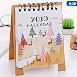 Meilleure Qualité – Calendrier – Dessin 2018.9–2019–12 Dessin animé Mini Flamingo papier de bureau Calendrier double Daily Scheduler Table Planning Agenda organiseur – par Chipsua – 1 pcs