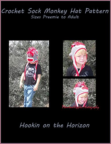Crochet Sock Monkey Hat Pattern (English Edition) (Monkey Diy Sock)