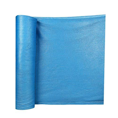 GJM Shop Filet D'ombrage 6 Broches Épaississement du Cryptage De Plein Air Serre Toit Crème Solaire Anti-UV Filet De Soleil -Bleu (Taille : 6 Wide x 50m Long)